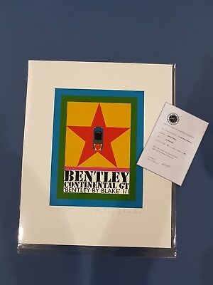 Peter Blake Limited Edition Signed Bentley Print 138/150 with COA