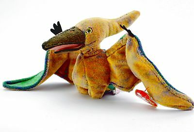 TY 2000 Swoop Beanie Babies Collection Flying Dinosaur Brown Plush Stuffed Toy