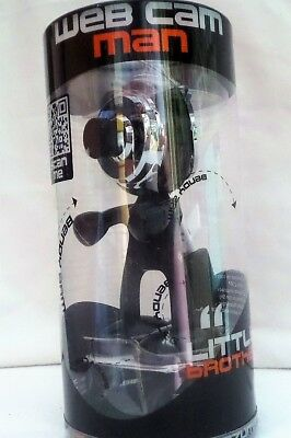 Satsuma Web Cam Man BNIB Black With Bendable Arms And Legs