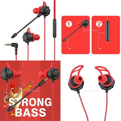 For PUBG Mobile Gaming Earphone Headphone Headset with Mic & Volume Control