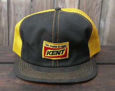 Vintage K PRODUCTS BRAND USA Made Trucker Hat Snapback Cap Patch Mesh Kent  Feeds 1f020a407108