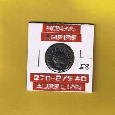 "Ancient Roman Empire coin of ""Aurelian""  270-275 AD ... AE Antoninianus ........"