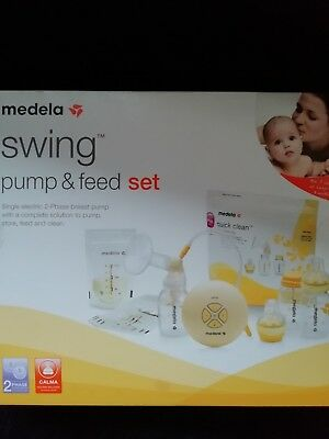 Medela Swing Pump and Feed Set Cost £180 new used once thoroughly sterilised