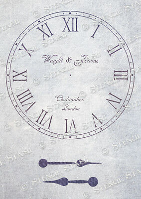 Clock Face STENCIL CR 3 sizes Vintage Shabby Chic Furniture, SUPERIOR 250 MYLAR