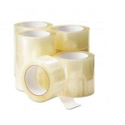 18 Rolls Of CLEAR STRONG Parcel Tape Packing sellotape Packaging 48mm x 66m