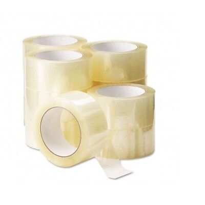 12 Rolls Of CLEAR STRONG Parcel Tape Packing sellotape Packaging 48mm x 66m