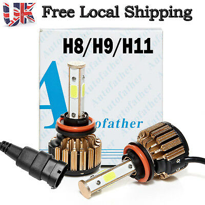 H11 H8 H9 4-Side LED 320W Car Headlight Conversion Bulbs Beam Kit 6000K White