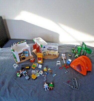 Playmobil Summer Fun 5432 Camp Site With Accessories, Tent, Shower Cubicle, Shop