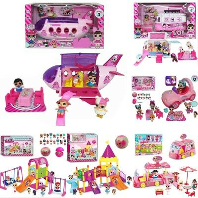Kids Xmas Gift LOL Surprise Doll Camper Car Playset Bus Aircraft Figure Toy Girl