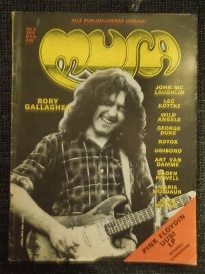 Finnish Musa Magazine 8/1975 Rory Gallagher on cover