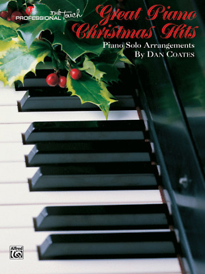 """""""great Piano Christmas Hits"""" Piano Solos-Dan Coates Music Book-Brand New On Sale"""