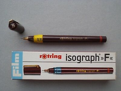 ------------ Rotring Isograph --- F --- Pen 0,35 ---- Unused Stock