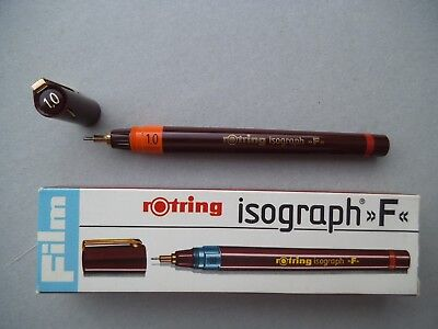 ------------ Rotring Isograph --- F --- Pen 1,0 --- Unused Stock