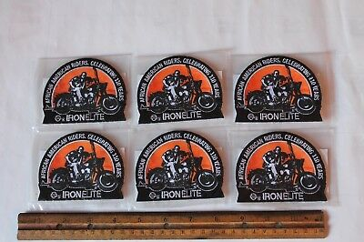 SET OF 6! New Harley Davidson Iron Elite African American Riders 110 Years PATCH