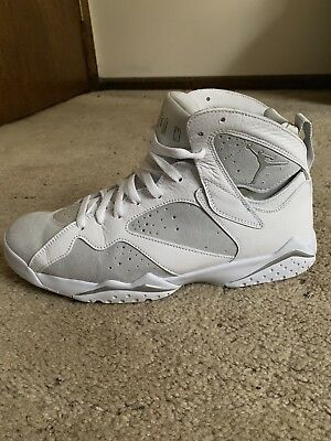 reputable site 48bb5 d3af2 Nike Air Jordan 7 VII Retro Pure Money White Silver 304775-120 Men s Size 13