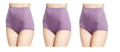 5bb18a07adbd 3 Vanity Fair Womens Perfectly Yours Ravissant Tailored Brief 15712 Smokey  Grape