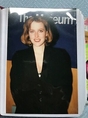 "Vintage Candid Photos GILLIAN ANDERSON ""The X-Files"" Lot Of 93 COLOR Great Shots"