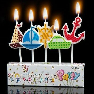 Boat Birthday Cake Candles Ship Ocean themed candles Sailing