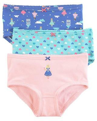 Carters Little Girls 3 Pack Panties Set New