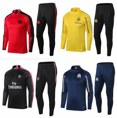 New Kids Boys Football Tracksuit Soccer Sportwear Training Suit Tops & Bottoms