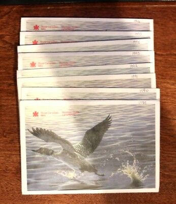 Lot of 8 Royal Canadian Mint Sets 1988 to 1996  #2236