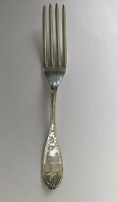 "N.HARDING Co. Coin Silver Fork 8"" Boston.Newell HARDING. 1846-1860 Tuscan Pat"