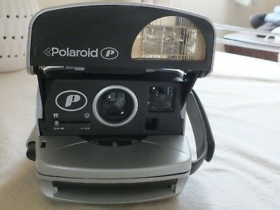 Classic Polaroid P Instant Camera Very Good Condition Grey and Black