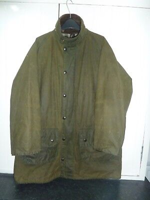 "Men's Olive Green Waxed Cotton Gamefair Jacket by Barbour in Size 42"" 107cm"