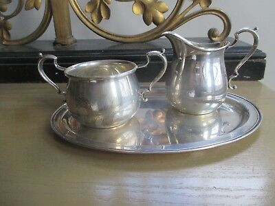 Fisher Sterling Tea Set ...sugar ,creamer And Tray