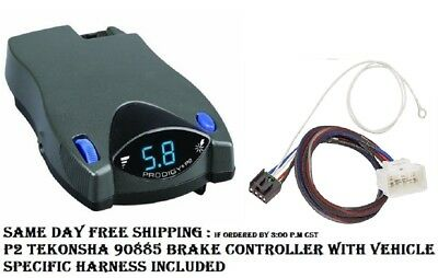 90885 Tekonsha Brake control with Wiring Harness 3017 FOR 2015-2017 Toyota