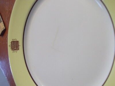 Canadian National Railways 1950S 10 Inch Dinner Plate-Wide Yellow Border-Nice