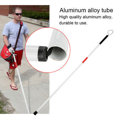 1PC Foldable Reflective Cane Crutch Anti-Shock Guide Walking Stick for The Blind