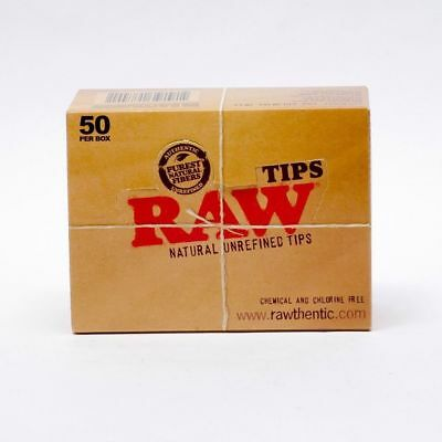 RAW Rolling Paper Smoking Chlorine Free Roaches Book of Tips 50 a box