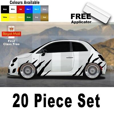 Abarth Punto Fiat 500 595 Spider Tiger Stripes Graphic Decal Sticker Badge