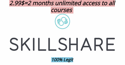 SKILLSHARE PREMIUM ACCOUNT 2 Months Subscription Unlimited Access To All Courses