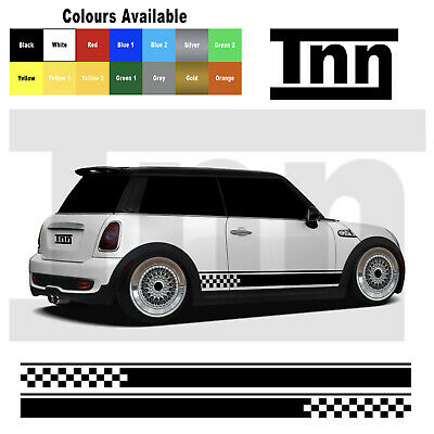 Mini Cooper S One Side Car Stripes Vinyl Graphics Decal Sticker Clubman Livery