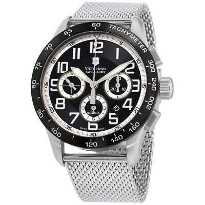 Victorinox Men's 241447.1 AirBoss Mach 6 Mechanical Black Chronograph Dial Watch