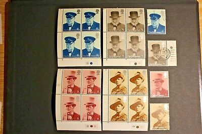 Gb Stamps 1974 Sg 962-965 Churchill Centenary Complete Set Mnh Plus Used: