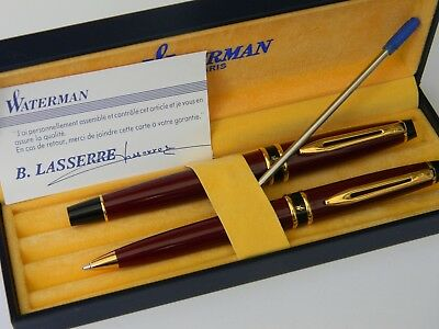 "Waterman"" Expert  French Lacquer Green  Rollerball & Mechanical Pencil  New!"