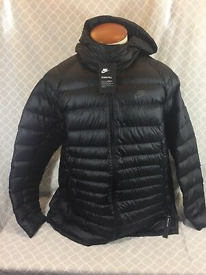 a0ec21d96 Nike Sportswear Guild Packable Hooded Down Jacket Black 866027-010 Men's XL