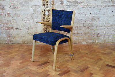 Vintage Mid Century Blonde French Bow Wood Chair By Steiner CAN DELIVER
