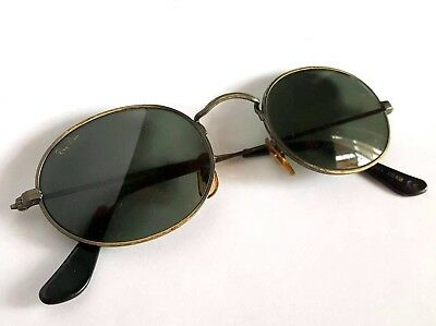 Occhiali Ray Ban Oval Metal Real Vintage Bausch & Lomb Made In Usa