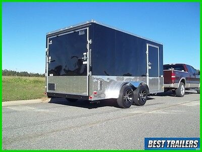 2018 7 x 14 motorcycle package New enclosed cargo trailer 7x14 v nose extra tall