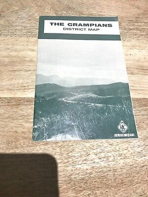 RACV The Grampians  District Map-1970's-Vintage-Near New-Unused