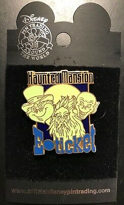 Disney Pin 263 WDW Haunted Mansion E-Ticket Grim Grinning Ghosts LE of 3000