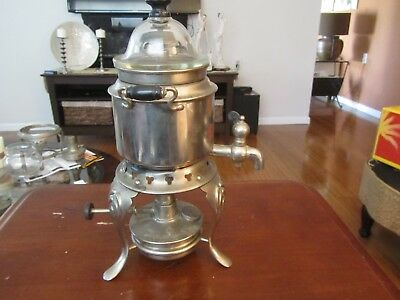 Antique 1904 Coffee Pot On Stand With Warmer The Sternau Coffee Machine 1 Pint