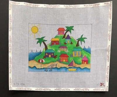 Renaissance Designs Hand-painted Needlepoint Canvas Island In The Sun