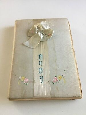 Vintage Baby Book With Adorable Greeting Cards