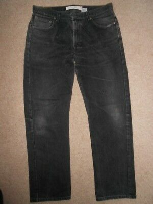 Levis 505 Regular Fit Black Jeans 36W 32L Red Tab Zip Fly - Very Good Condition