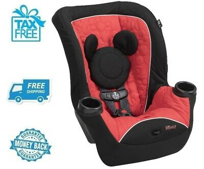 New Disney Mickey Mouse Red Convertible Car Seat Baby Boys Chair Girls Booster